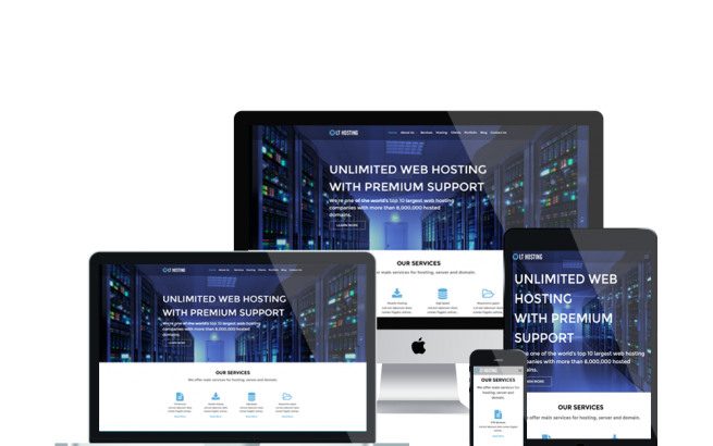 Wordpress Theme: LT Hosting – Free Responsive Server / Hosting WordPress Theme