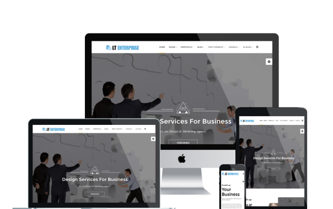 Joomla Template: LT Enterprise – Free Image Design / Creative Joomla template