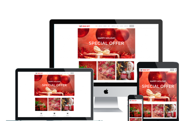 Wordpress Theme: LT xMas Gift – Free Responsive xMas Store / Christmas Shop WordPress Theme