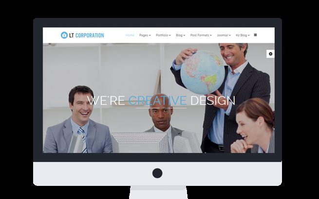 Joomla Template: LT Corporation Onepage – Single Company / Corporation Onepage Joomla template