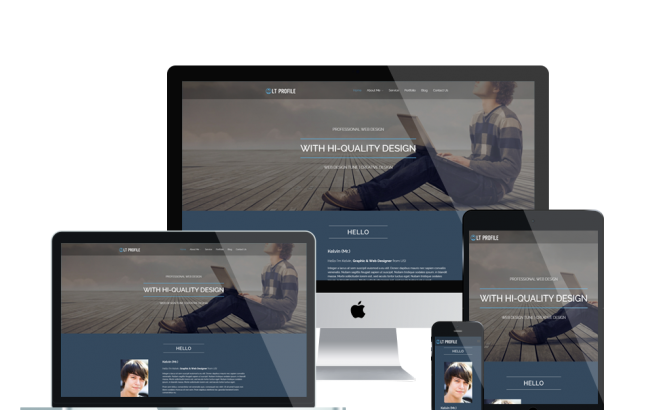 Wordpress Theme: LT Profile – Free Responsive CV / Profile WordPress Theme