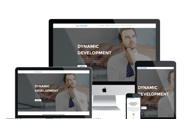 Wordpress Theme: LT Resume – Free Responsive Personal CV / Resume WordPress Theme