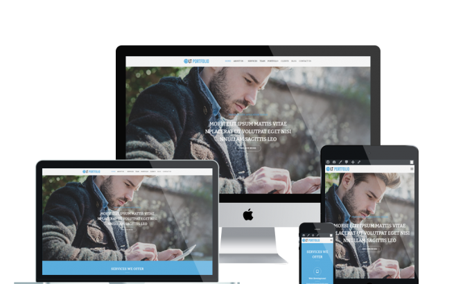 Wordpress Theme: LT Portfolio Onepage – Free Single Page Responsive Image Design / Corporate WordPress theme