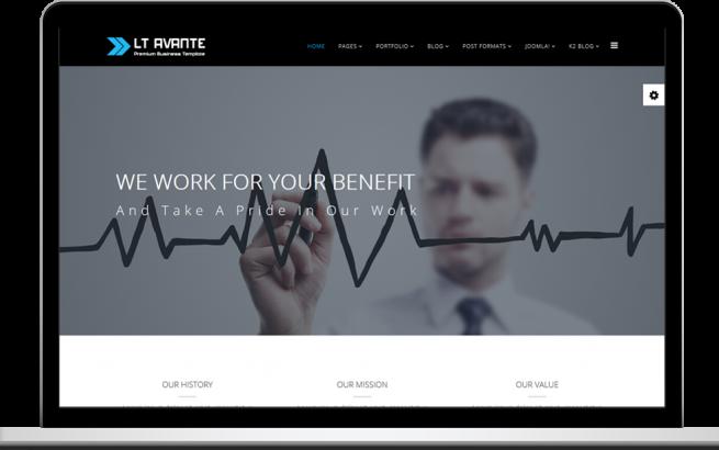 Joomla Template: LT Avante – Free Responsive Business Onepage Joomla template