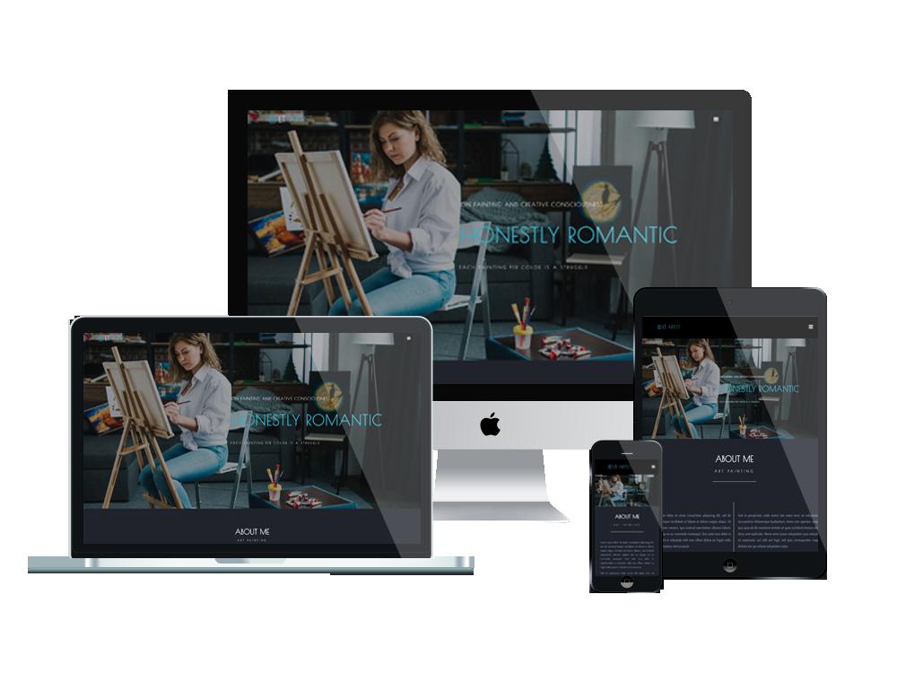 Joomla Template: LT Artist - Premium Private Joomla Art Templates