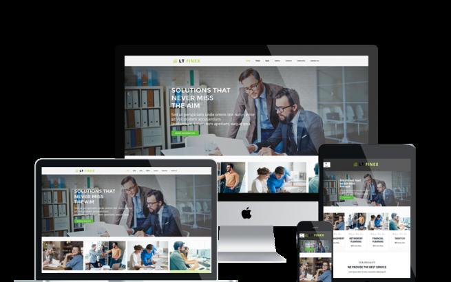 Wordpress Theme: LT Finex – Free Responsive Investment Company / Financial WordPress theme