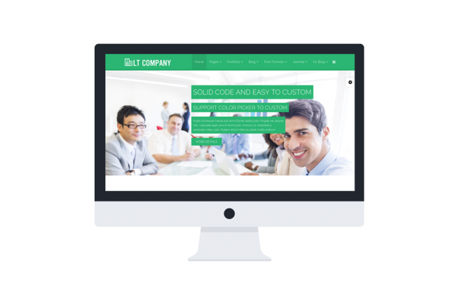 Joomla Template: LT Company Onepage – Single Corporation Onepage Joomla template