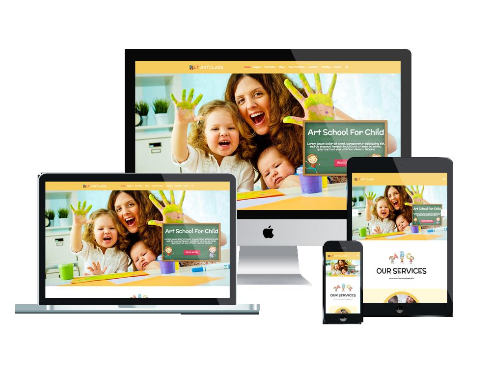 Joomla Template: LT ArtClass - Premium Private Joomla Art School website template