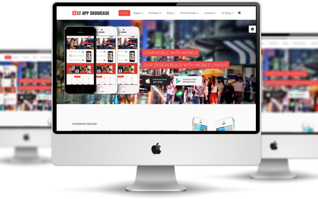 Wordpress Theme: LT App Showcase Onepage – Free Single Page Responsive Application Showcase WordPress theme