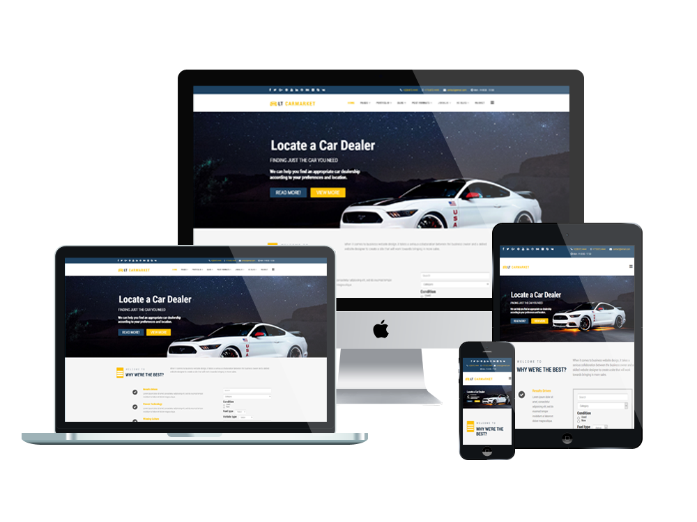 Joomla Template: LT Carmarket – Free Joomla Car For Sale template