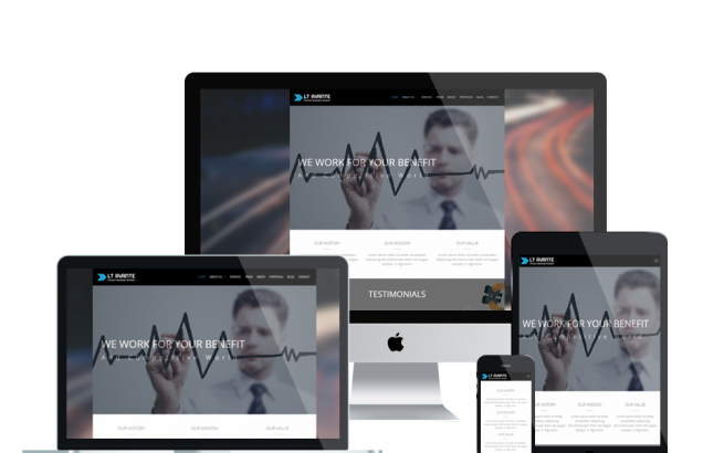 Wordpress Theme: LT Avante Onepage – Free Single Page Responsive Corporation / Business WordPress theme