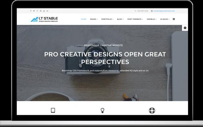 Joomla Template: LT Stable – Free Responsive Creative Onepage Joomla! template