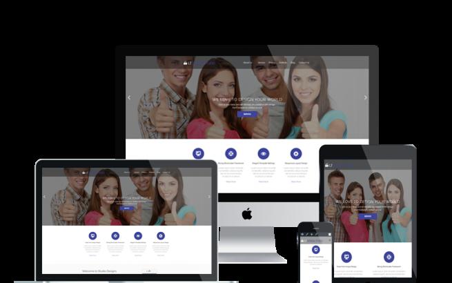 Wordpress Theme: LT Design Studio Onepage – Free Single Page Responsive Creative / Design Studio WordPress theme