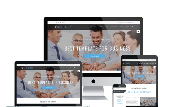 Wordpress Theme: LT Strategy Onepage – Free Single Page Responsive Business / Creative WordPress theme
