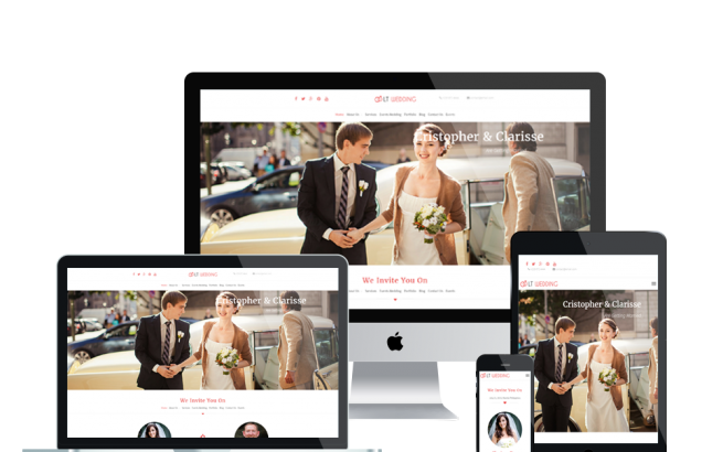 Wordpress Theme: LT Wedding – Free Responsive Wedding Planner WordPress Theme