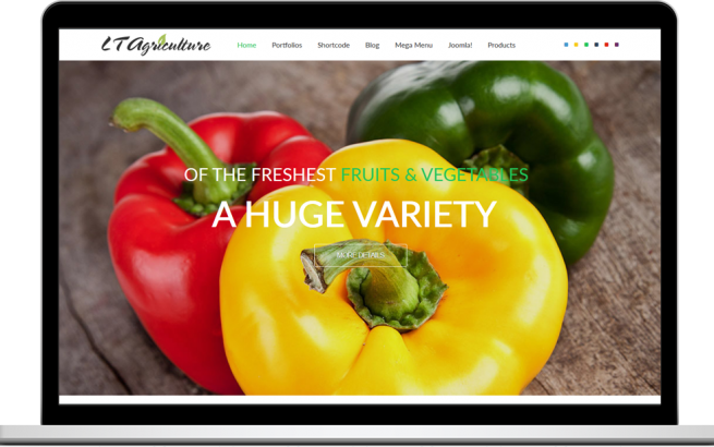 Joomla Template: LT Agriculture – Onepage fruits & vegetables Joomla template