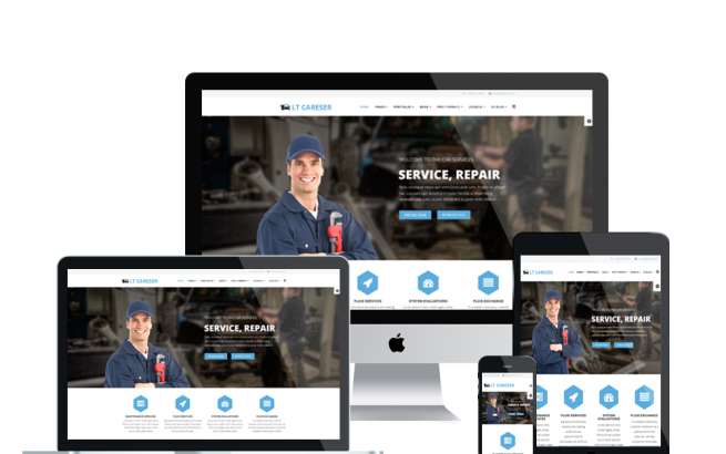 Wordpress Theme: LT Careser – Free Responsive Car Services / Repair WordPress theme