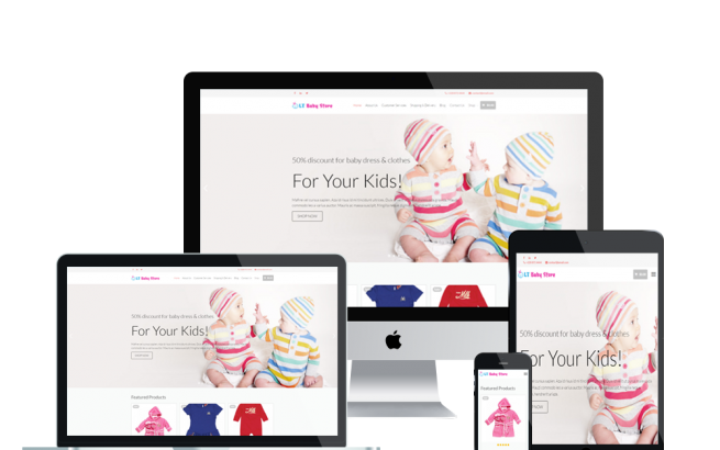 Wordpress Theme: LT Baby Shop – Free Responsive Kids / Baby Store WordPress Theme