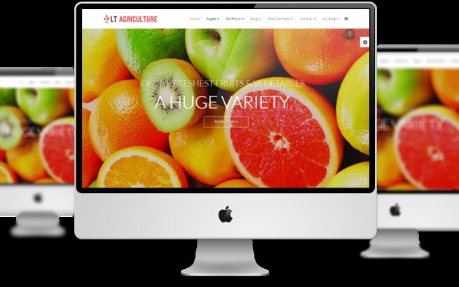 Joomla Template: LT Agriculture – Responsive Farmer / Fruits Joomla template
