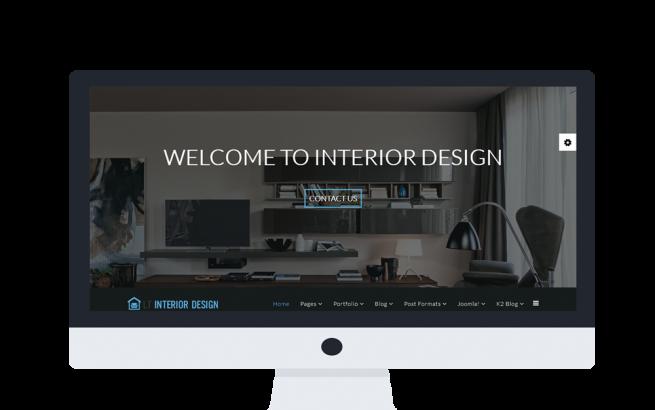 Joomla Template: LT Interior Design Onepage – Single Furniture / Interior Design Onepage Joomla template