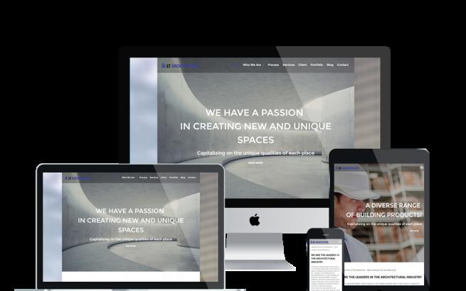 Wordpress Theme: LT Architecture Onepage – Free Single Page Responsive Modern / Architecture WordPress theme
