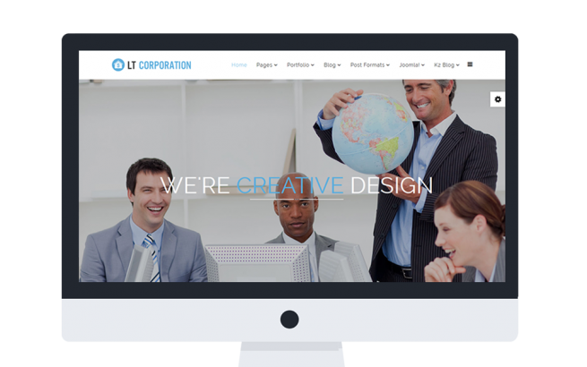 Wordpress Theme: LT Corporation Onepage – Free Single Page Responsive Company / Corporation WordPress theme