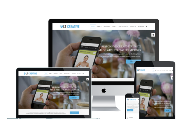 Wordpress Theme: LT Creative – Free Responsive Image Design / Creative WordPress Theme