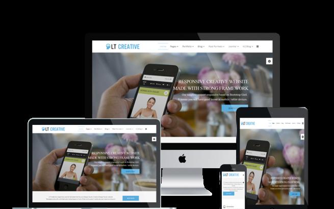 Wordpress Theme: LT Creative – Free Responsive Image Design / Creative WordPress Theme