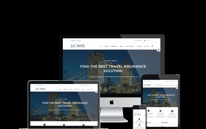 Wordpress Theme: LT Travel – Free Responsive Hotel / Travel WordPress theme