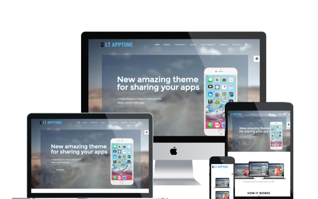 Joomla Template: LT Apptune Onepage – Free Single Page Responsive Mobile Apps Joomla template
