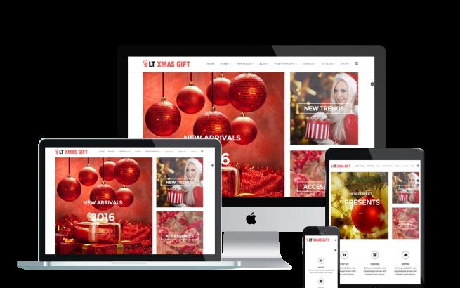 Joomla Template: LT xMas Gift – Free xMas Store / Christmas Shop Joomla template