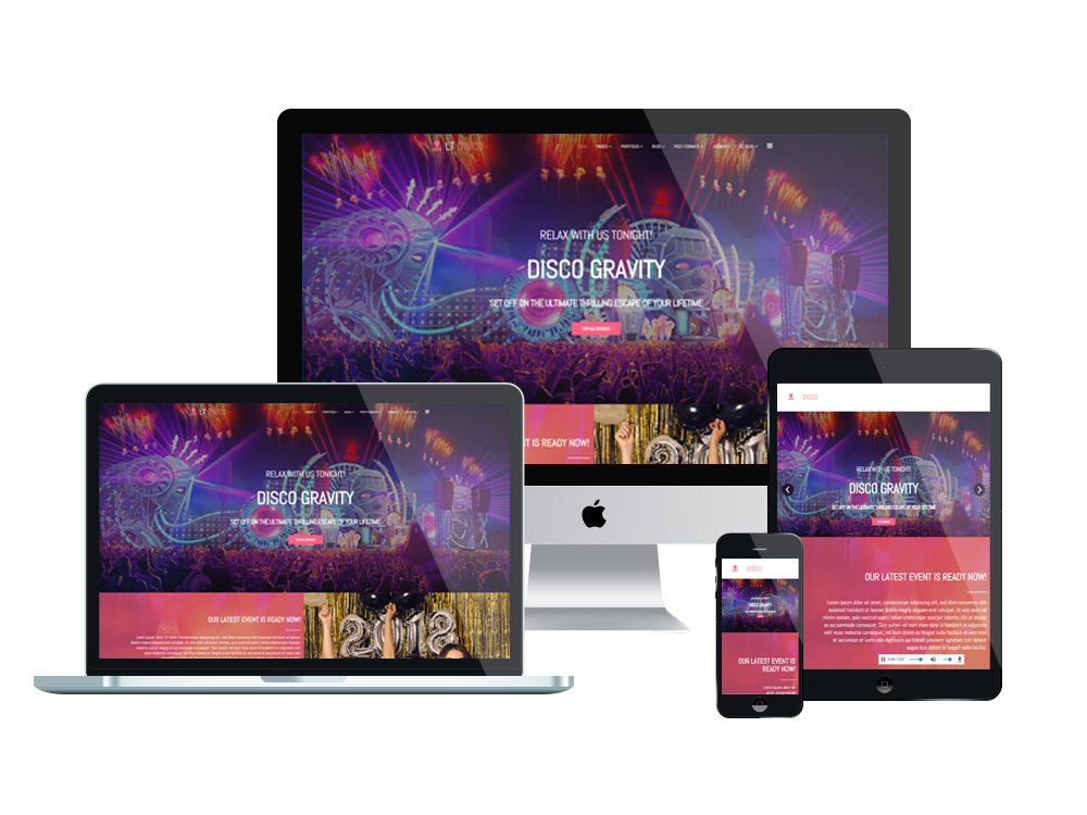 Joomla Template: LT Disco - Premium Private Club Joomla Template