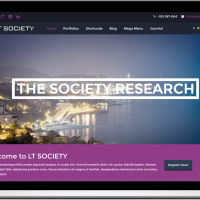 Ltheme Joomla Template: LT Society – Free Corporation / Society Onepage Joomla template