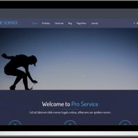 Ltheme Joomla Template: LT Blue Service – Free One Page Responsive Service Joomla template