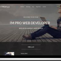 Ltheme Joomla Template: LT Profile – Free One Page Responsive Resume, CV, Profile Joomla template