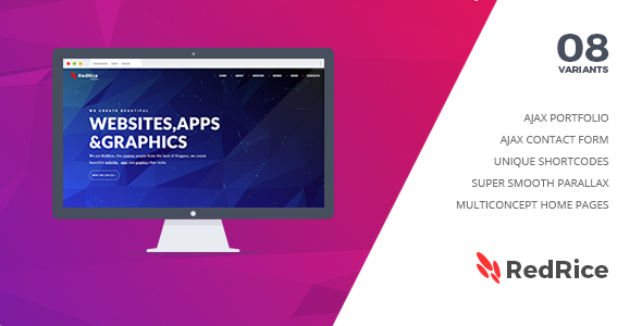 Joomla Template: RedRice - Joomla One-Page Multipurpose Theme