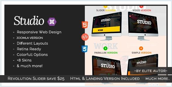 Joomla Template: Studio - Multipurpose Technology Joomla Template