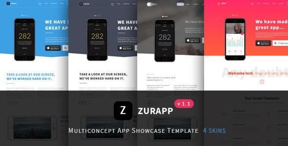 Joomla Template: ZurApp - Multiconcept App Showcase Joomla Template