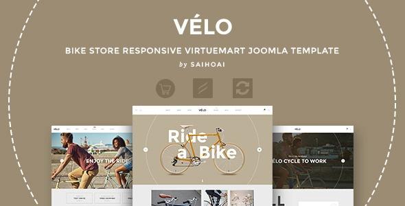 Joomla Template: Velo - Bike Store Responsive VirtueMart Template