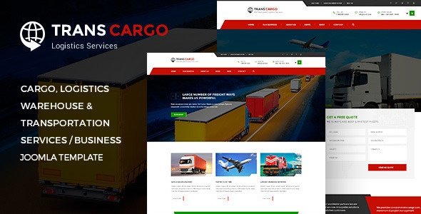 Joomla Template: TransCargo - Transport & Logistics Joomla Template