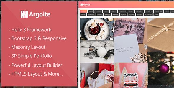 Joomla Template: Argoite - Free Joomla Portfolio template