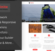 Joomla Free Template - Inspinite - Free Joomla Blog Template