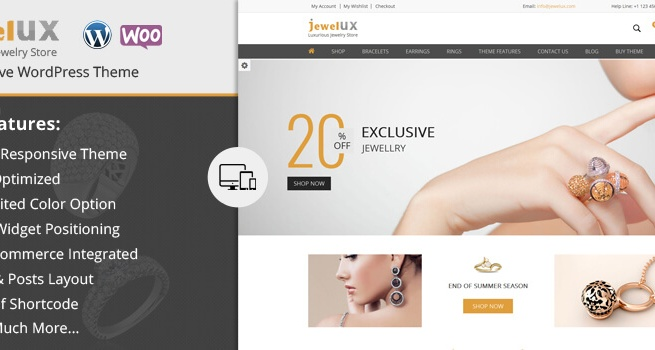Wordpress Theme: JewelUX WordPress Theme