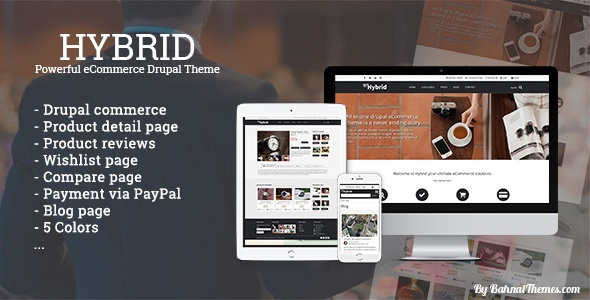 Drupal Theme: HYBRID - Powerful eCommerce Drupal Theme