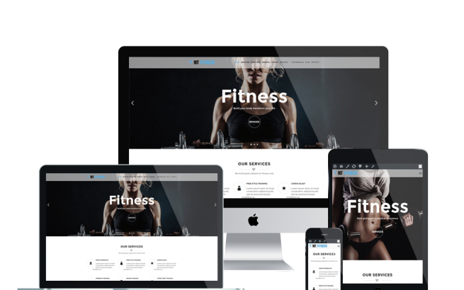 Wordpress Theme: NT Fitness - Free Yoga/ Gym Wordpress Theme