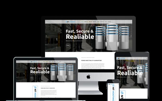 Wordpress Theme: NT Hosting - Free Server/ Hosting Wordpress Theme