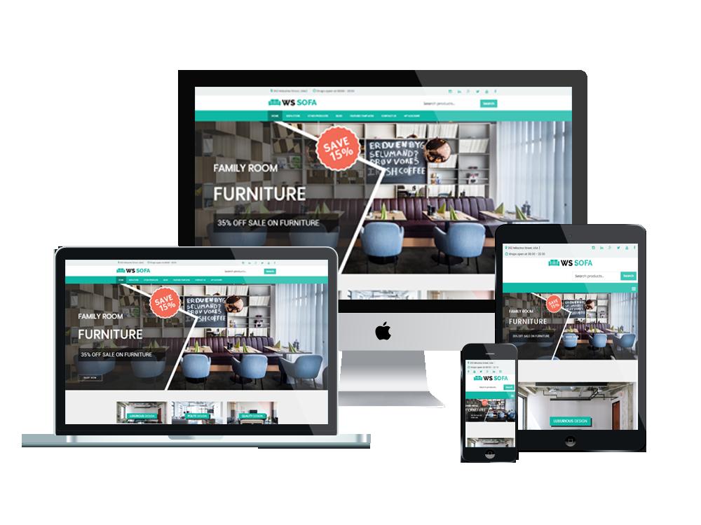 Wordpress Theme: WS Sofa – Free Responsive Sofa Store Woocommerce Wordpress Theme