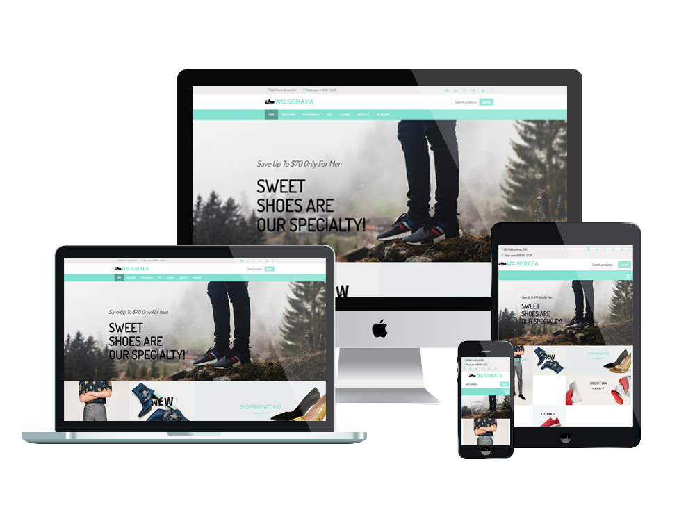 Wordpress Theme: WS SOBAFA – Free Responsive Shoes Store Woocommerce Wordpress Theme