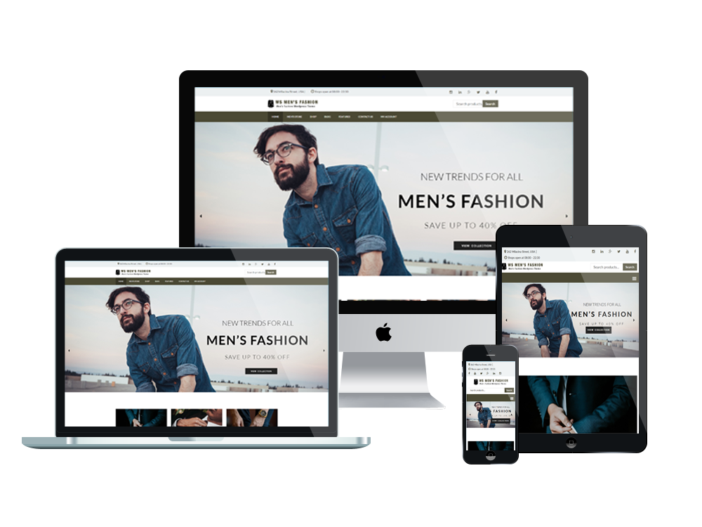 Wordpress Theme: WS Men's Fashion – Free Fashion Store Woocommerce Wordpress Theme