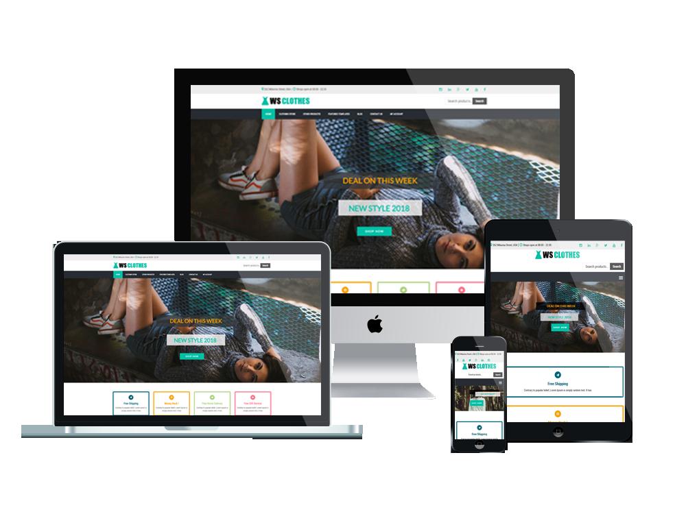 Wordpress Theme: WS Clothes – Free Responsive Clothes Woocommerce Wordpress Theme